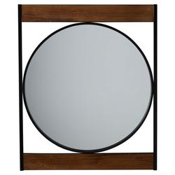 Modern Square Frame Industrial Metal Circle Wall Mirror
