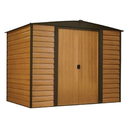Category: Dropship Outdoors, SKU #OSDHCIEC4198954, Title: Outdoor 6-ft x 5-ft Steel Storage Shed with Woodgrain Pattern Siding