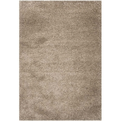 "6'7"" x 9'6"" Hand-Tufted Plush Taupe Area Rug"