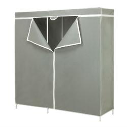 60-inch Grey Portable Closet Clothes Organizer Wardrobe