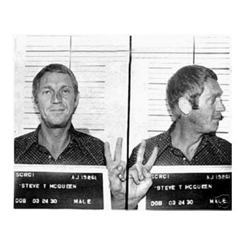 Steve McQueen Mug Shot