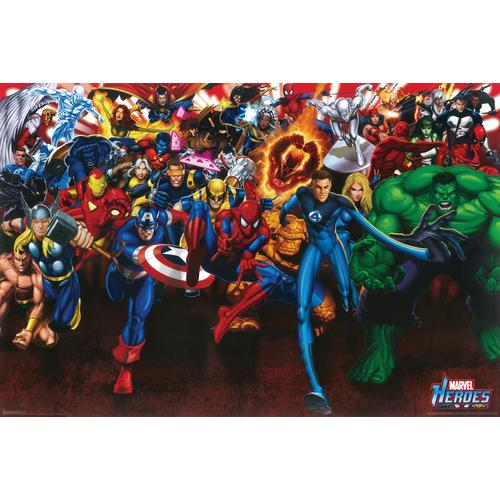 Marvel Heroes Collage