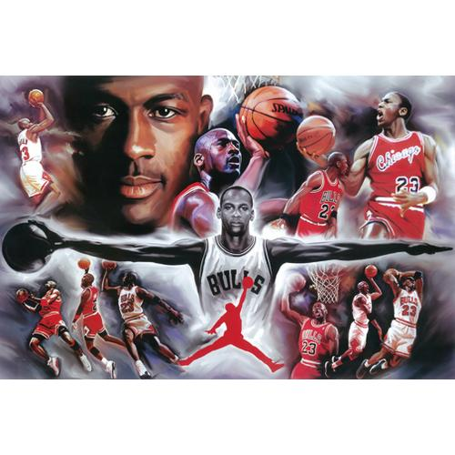Michael Jordan Collage Painting