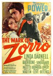 The mark of Zorro Tyrone Power