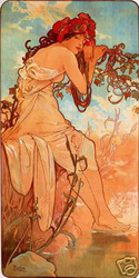 Summer Alphonse Mucha
