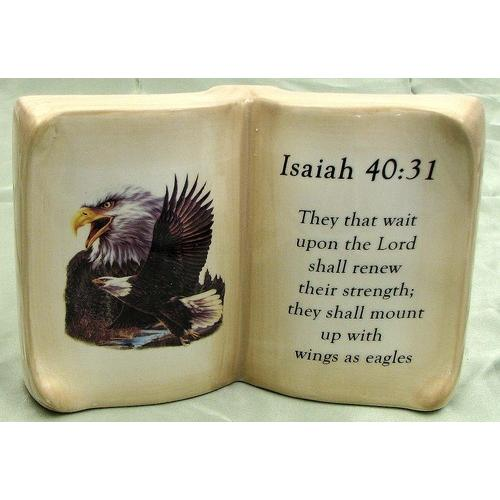 Ceramic Book Eagle Verse Isaiah 40:31