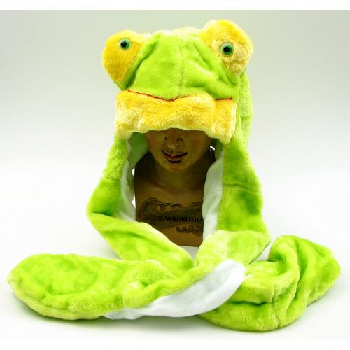 Large Frog Plush Hat