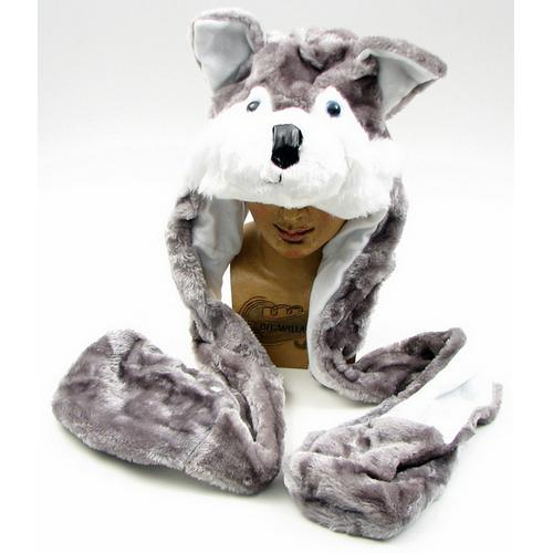 Large Husky Plush Hat