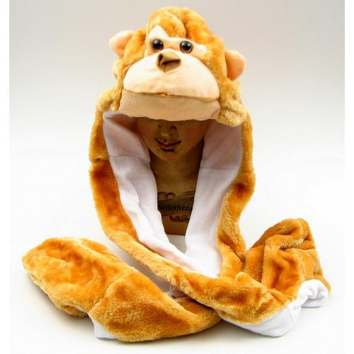 Large Monkey Plush Hat