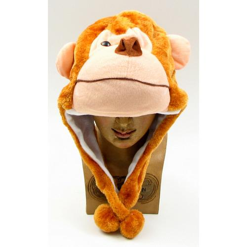 Kids Monkey Plush Hat