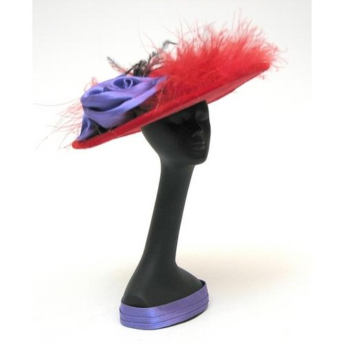 Red Hat Mannequin withHat Red feather