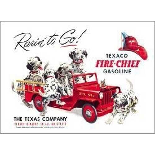 Tin Sign Texaco - Rarin' to Go