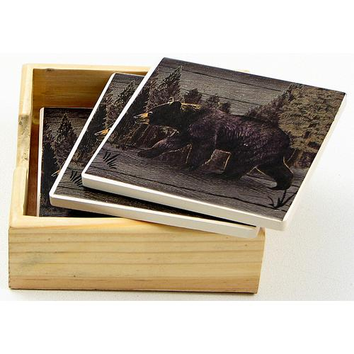 Bear Square Coaster Set