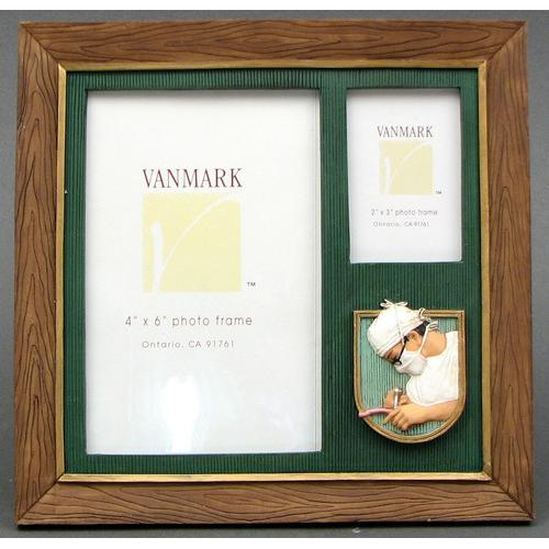 Wood look Doctor 2 Photo Frame