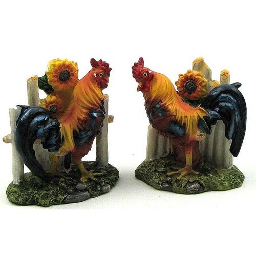 Rooster With Fence 2 assorted priced each