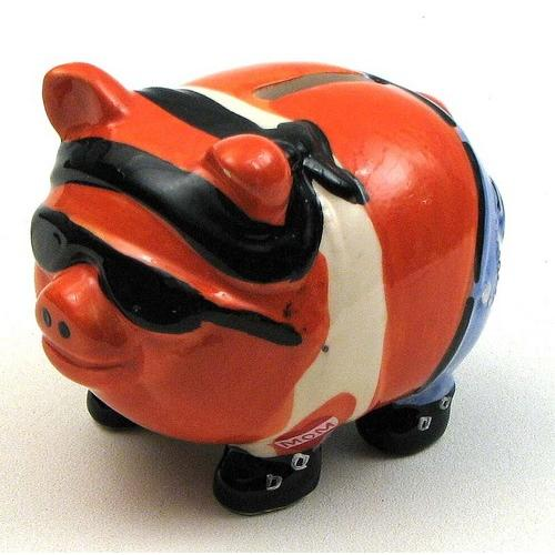 Pork Chop Biker Pig Bank