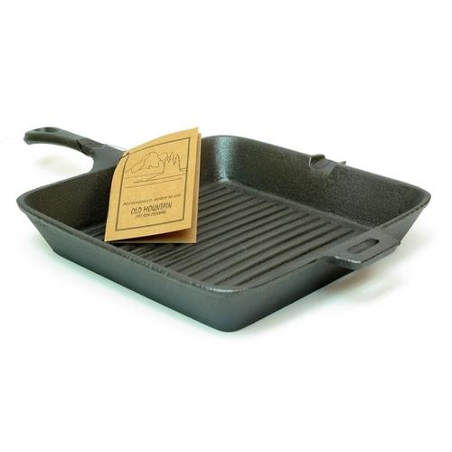 Old Mountain Cast Iron Preseasoned Square Grill Skillet