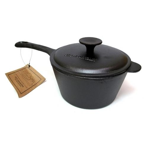 Old Mountain Cast Iron 3 qt Sauce Pan w Lid