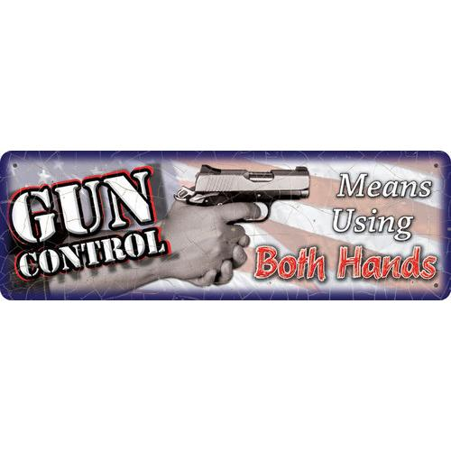 Gun Control - 2 Hands Sign