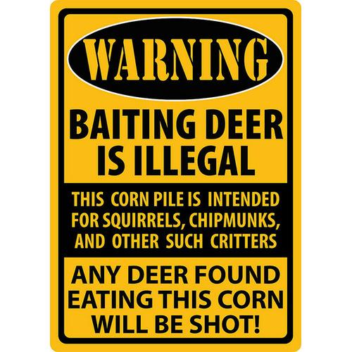 Warning Baiting Deer