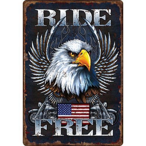 RIDE FREE - Tin Sign