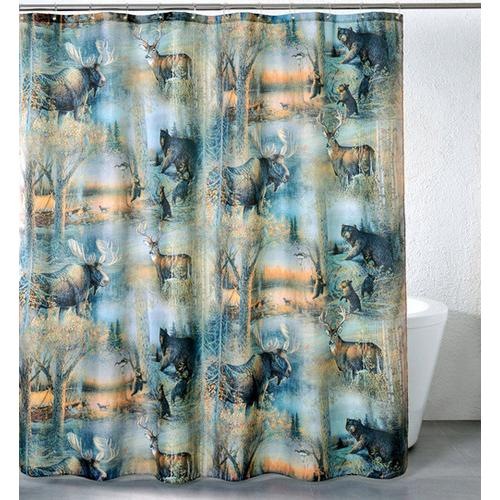 Deer & Moose Shower Curtain