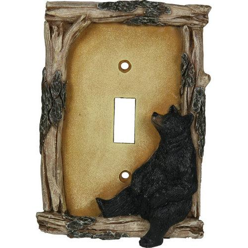 Bear Single Switch Plate Cover