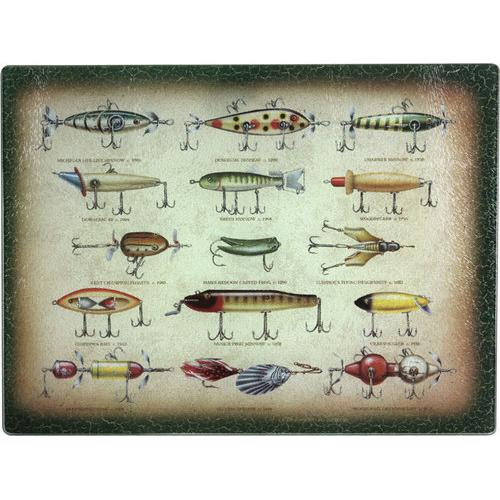 Antique Fishing Lure Cutting Board