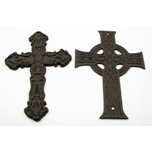 Cast Iron Crosses Set of 4