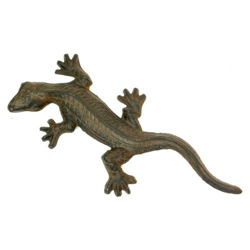 Cast Iron Gecko Figure Set of 2