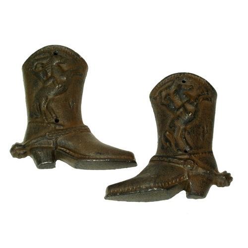 Cast Iron Western Cowboy Boots Set of 6