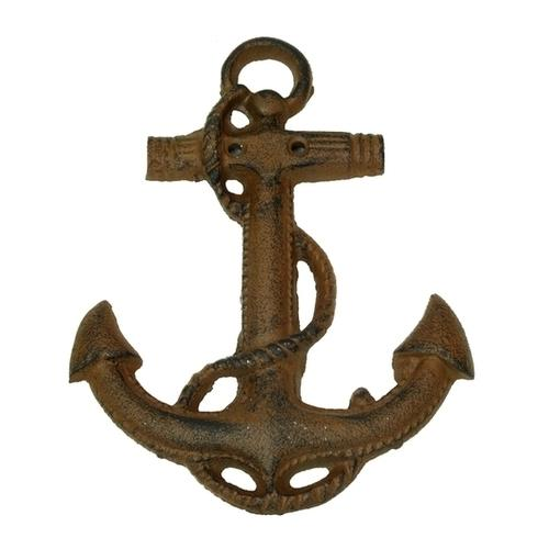 Cast Iron Boat Anchor Wall Deco Set of 2