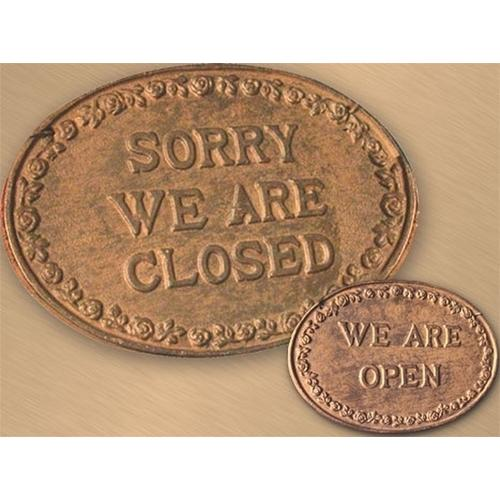 Sign CLOSED / OPEN Cast Iron