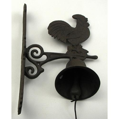 Large Rooster Bell Cast Iron