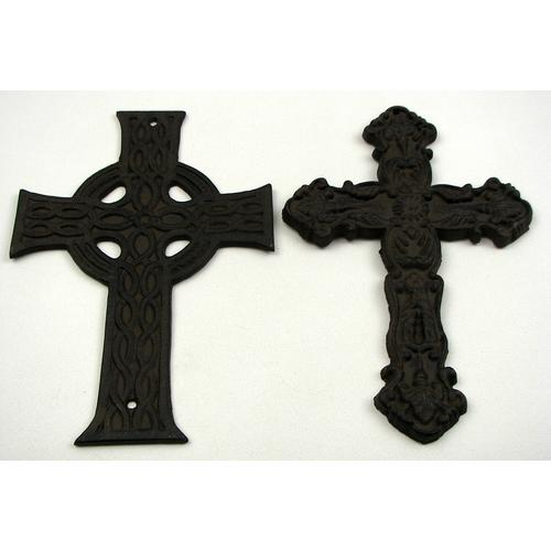 Cast Iron Crosses Set of 4