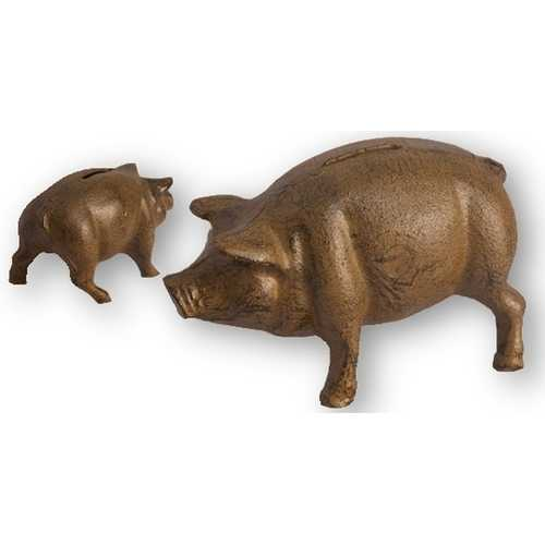 Cast Iron Pig Bank Rust