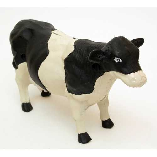 Large Heavy Cast Iron Cow