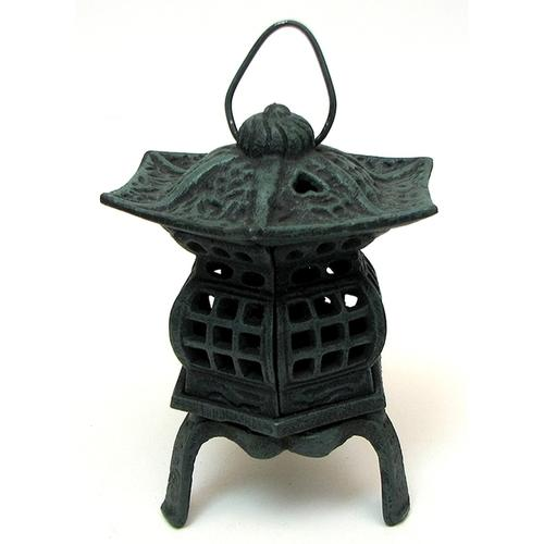 Cast Iron Footed Pagoda Lantern