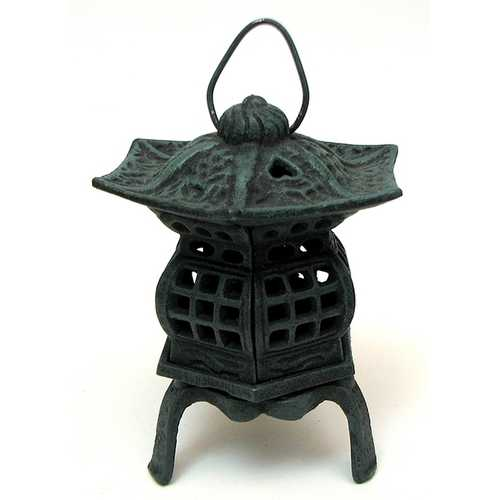 Cast Iron Footed Pagoda Lantern AS IS