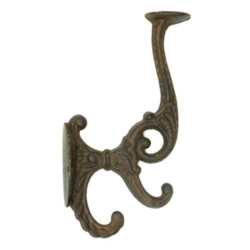 Solid Cast Iron Victorian Coat Hook Set of 2