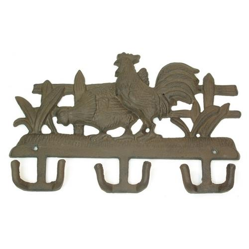 Cast Iron Wall Hook - Chicken & Rooster