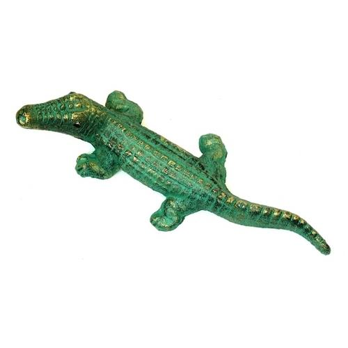 Cast Iron GreenGold Alligators Set of 2