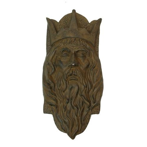 Cast Iron King Head W Crown