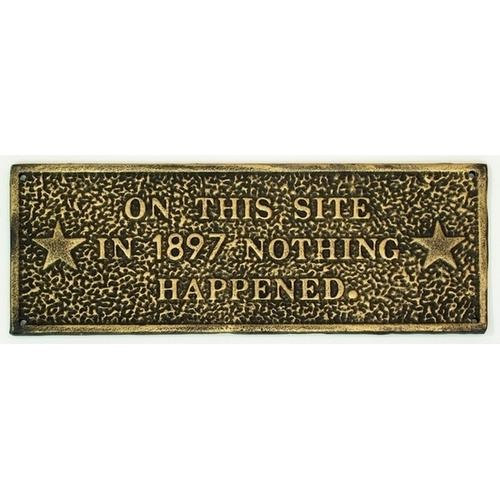 Cast Iron 'On This Site' Plaque