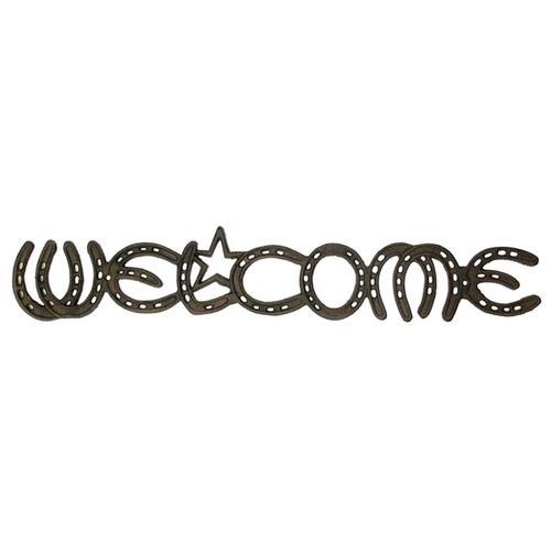 Cast Iron Welcome Horseshoe Sign