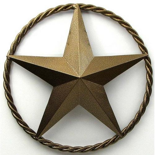 """24"""" Gold Star with Ring"""