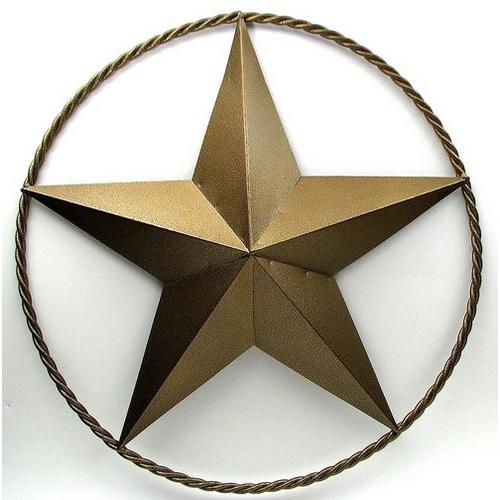 """30"""" Gold Star with Ring"""
