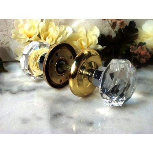 SOLID Crystal Door Knobs Clear