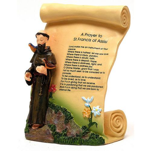 St. Francis of Assisi Scroll Plaque