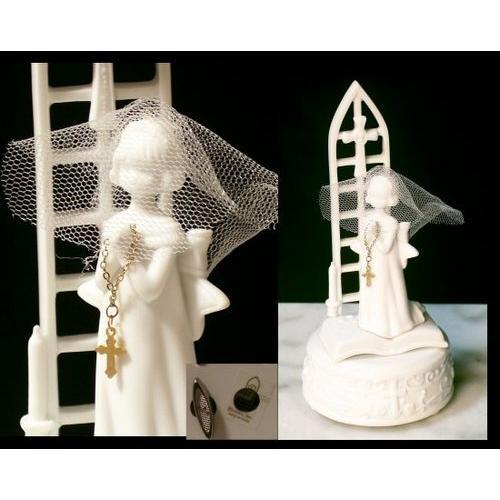 Roman Musical Figure Girl W Lord's Prayer